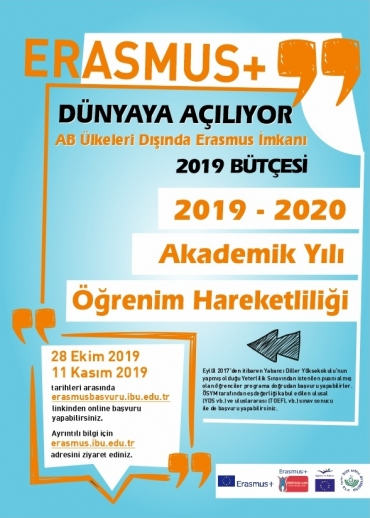 2019 PROJECT 2019-2020 AKADEMIC YEAR SPRING TERM ERASMUS+ INTERNATIONAL CREDIT MOBILITY   (MOBILITY WITH COMMON COUNTRIES – KA107)   APPLICATIONS FOR STUDENT MOBILITY – I. ANNOUNCEMENT